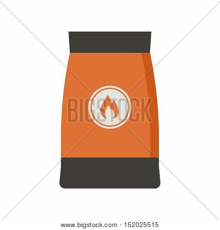 Barbecue coal bag icon. Firewood pack vector illustration.