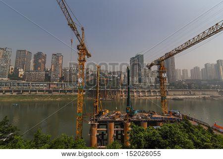 cityscape of city Chongqing, the southwest of China