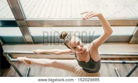 Ballerina Practice Ballet School Concept