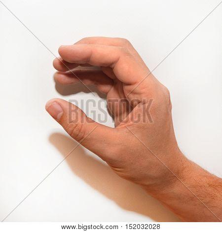 Letter C in American Sign Language (ASL) for deaf people