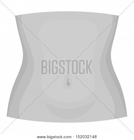 Abdomen icon in monochrome style isolated on white background. Part of body symbol vector illustration. poster