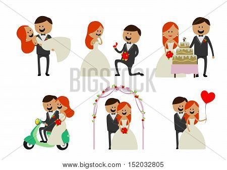 Wedding couple vector illustration. Wedding couple isolated on white background. Wedding couple vector icon illustration. Wedding couple isolated vector. Wedding couple silhouette