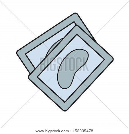 color icon. Isolated vector illustration. lash extensions element. Hyaluronic Collagen Eye Patches for tired eyes