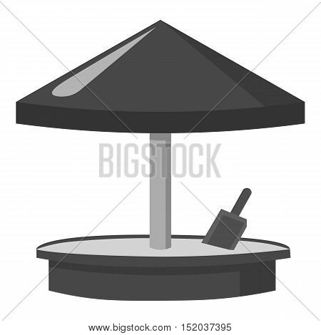 Sandbox icon in monochrome style isolated on white background. Play garden symbol vector illustration.