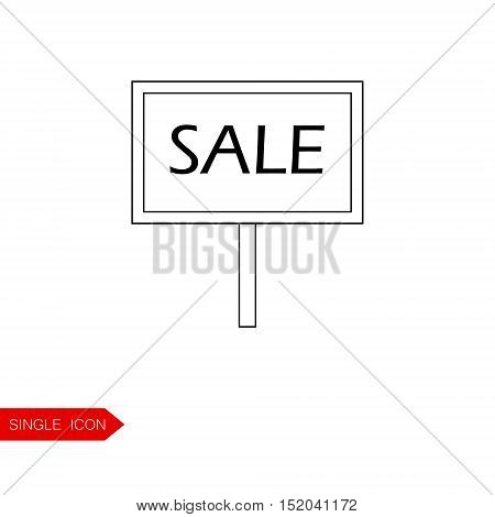 Signpost vector icon. Button for websites, the element for brochure, poster, advertising leaflets etc.