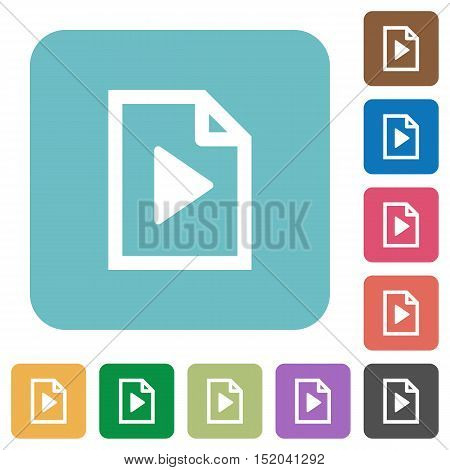 Flat playlist icons on rounded square color backgrounds.
