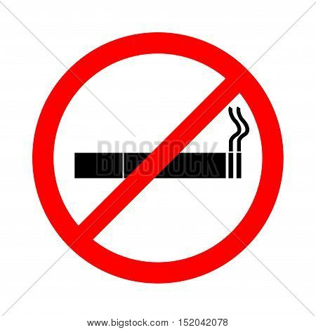No smoking sign on white background , stop smoking, No Smoking Vector Illustration.