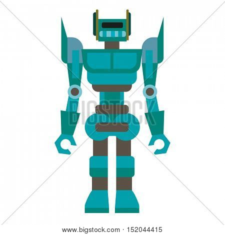 Cartoon robot. Machine robot technology, intelligence artificial cyborg, science robotic character. Vector robot toys illustration isolated on white background.