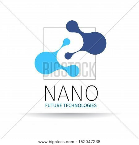Vector illustration of Nano logo - nanotechnology. Template design of logo.