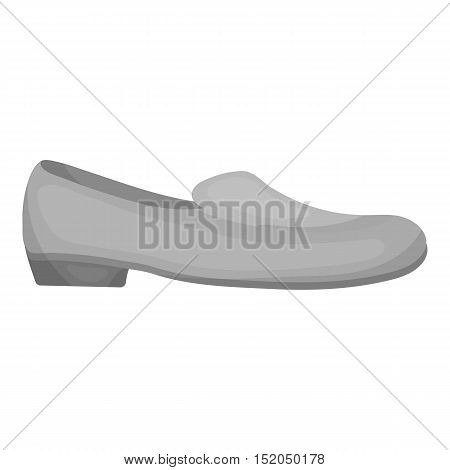 Loafers icon in monochrome style isolated on white background. Shoes symbol vector illustration.