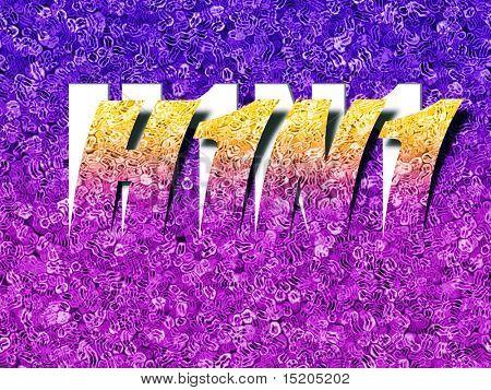 An illustration of an abstract H1N1 swineflu letter