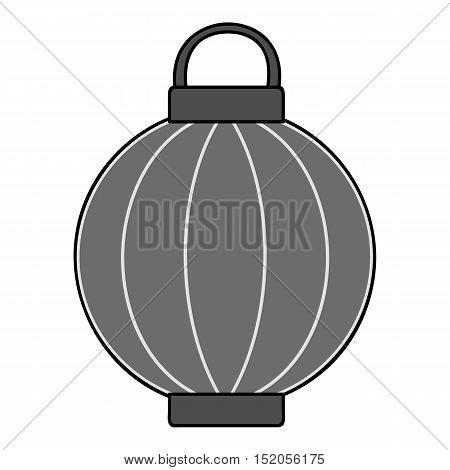 Korean lantern icon in monochrome style isolated on white background. South Korea symbol vector illustration.