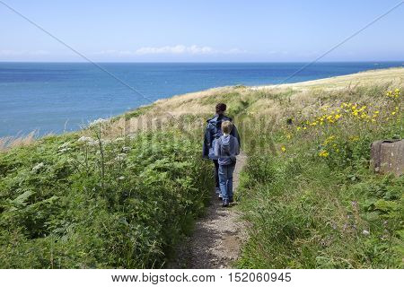 Waking the Coastal Path in Pembrokeshire, Wales, Great Britain