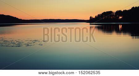 Beautiful Landscape. Wild Nature Of Russian North.