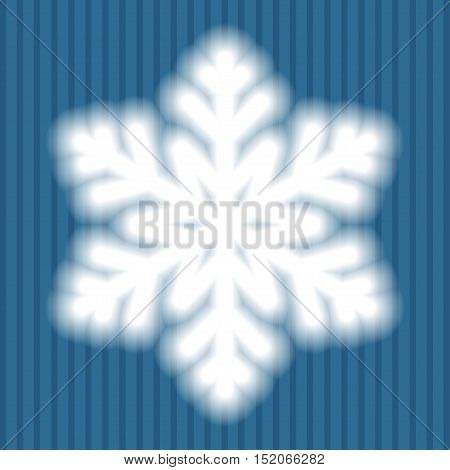Big White Snowflake With Soft Translucent Edges