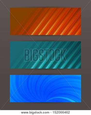 Design elements business presentation template. Set horizontal banners background. Vector illustration EPS 10 for web buttons template