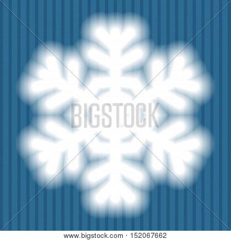 Big White Snowflake With Soft Translucent Edges