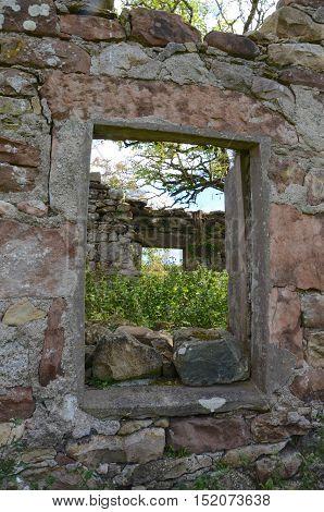 Abandoned farmhouse on the Isle of Arran