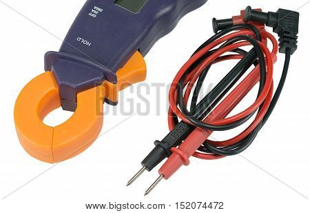 the Digital multimeter on a white background