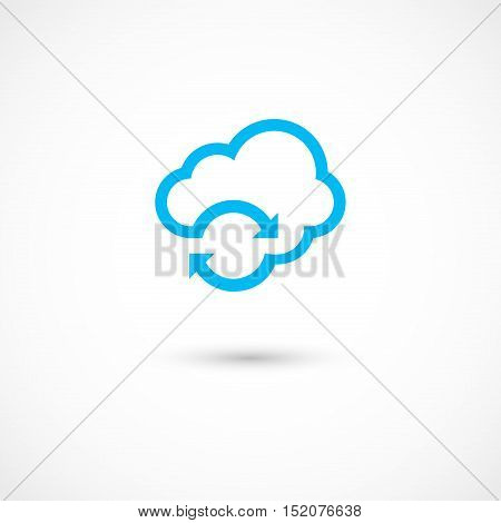 Vector illustration of a Weather changes on white background