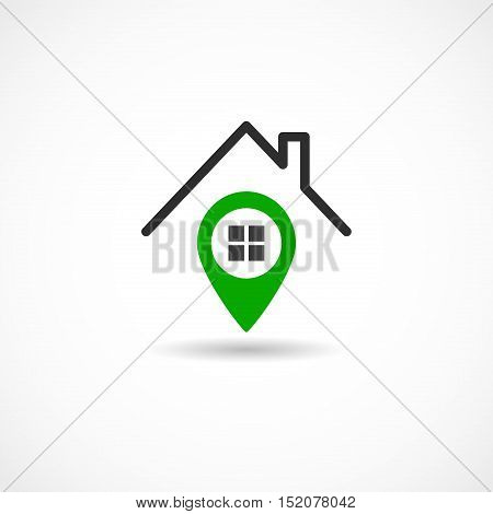 Vector illustration of a House Tag on white background
