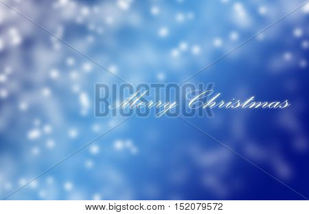 Blue Snowflake Background With Text Merry Christmas