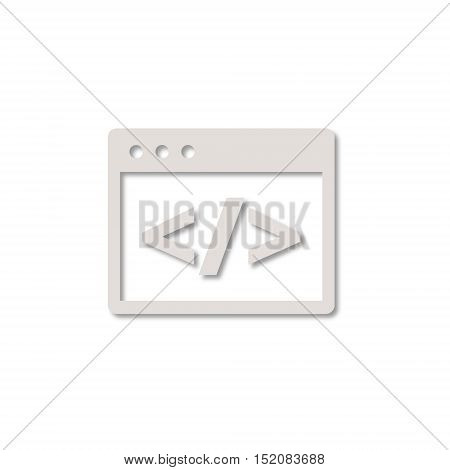 Simple vector Coding icon on white background