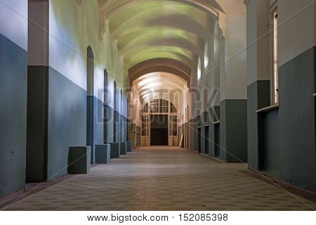 Corridor, light and shadow, mysterious and dangerous place