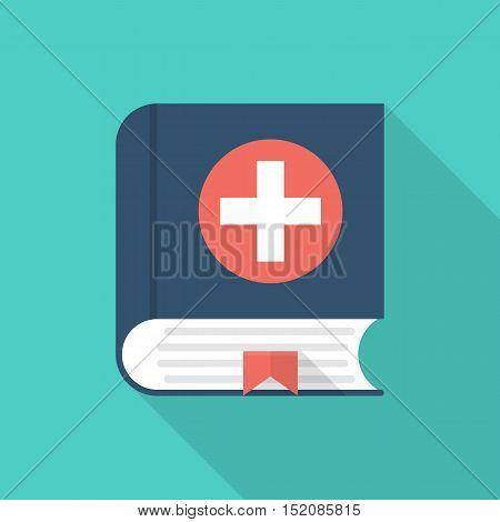 Medical Book. Vector Icon