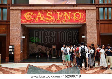 Casino On The Island Of Sentosa, Singapore.