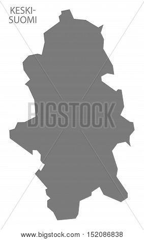 Keski-Suomi Finland Map grey illustration high res