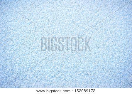 Clean plain cold white blue winter snow surface texture background