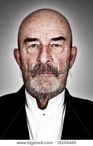 strange old  man with a grey beard - high details