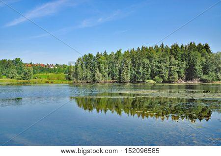 Lake Gruentensee in Allgaeu near Hindelang in Bavaria,Germany