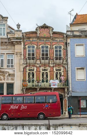 Streets And Facades Of Aveiro, Portugal.