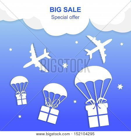 Big Sale banner. Super Sale and special offer. Vector illustration.