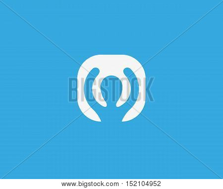 Winner champion minimalistic logotype. Fitness app vector logo icon
