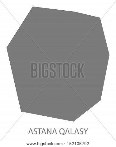 Astana Qalasy Kazakhstan Map grey illustration high res