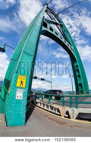 Lions Gate Bridge In Vancouver, Bc, Canada