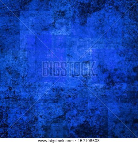 abstract colored scratched grunge background - bright blue