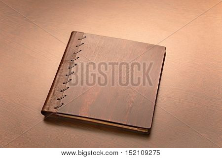 Note book with hard wooden cover