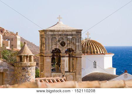 Byzantine town of Monemvasia, Greece