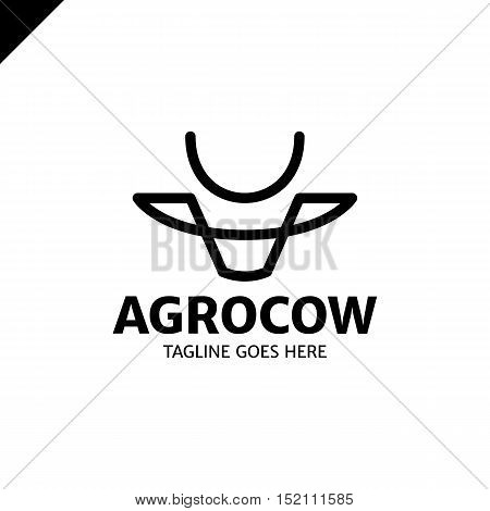 Cow Or Bull Simple Line Logo
