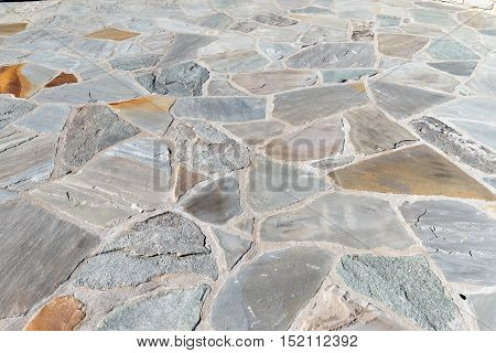 flat stone pavers with colors and textures