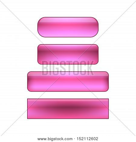 vector isolated blank web buttons set - purple