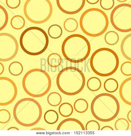 vector seamless pattern - orange and brown circles on beige background