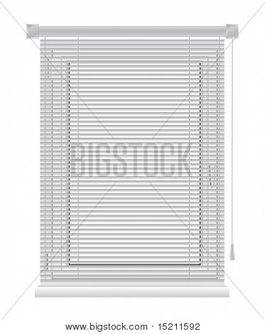 vector plastic window with sun-blinds