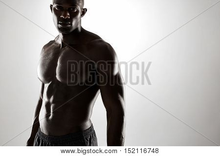 Young Afro American Man With Muscular Physique