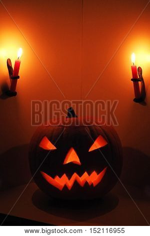 Halloween Pumpkin Head Jack Lantern