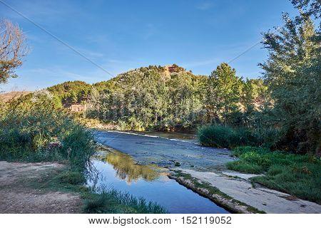 Autum 2016. Views of the  Henares River and around, near Alcala de Henares, Madrid, Spain